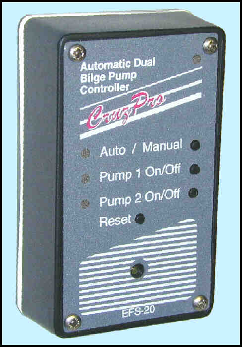 EFS20 Dual Bilge Pump Controller and Electronic Float Switch