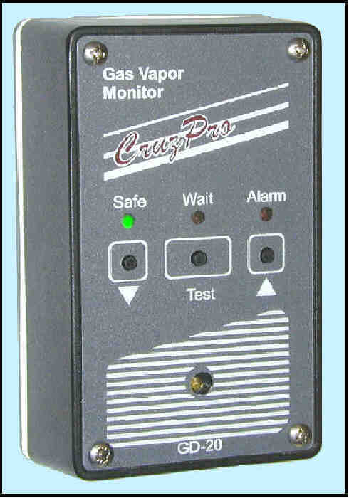 GD20 gas detector for LPG, petrol 			/ gasoline, monitor and alarm