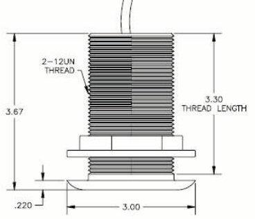 THD-4 bronze transducer dimensions