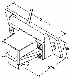 TMST-1 Transom mount spped/temp. transducer dimensions