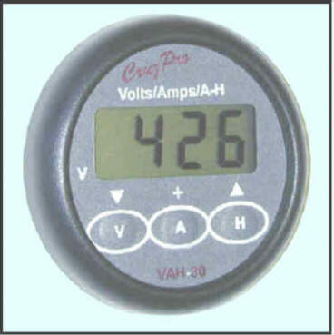 VAH30 Digital Volts/Amps/Amp-Hour Monitor
