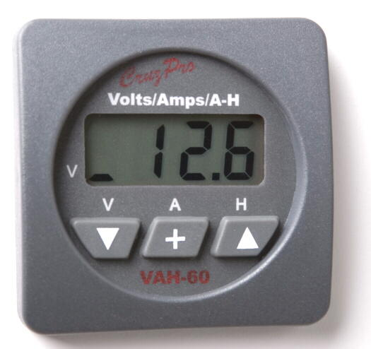 VAH60 Digital Volts/Amps/Amp-Hour Monitor